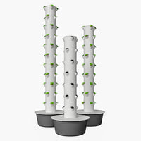 3D aeroponics tower