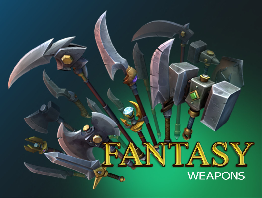 3D fantasy weapons
