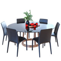 table bonaldo greeny chair 3D
