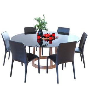 table bonaldo greeny chair 3D