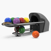 Bowling Ball Return System with Balls