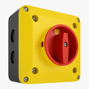 enclosed disconnect switch 3D model