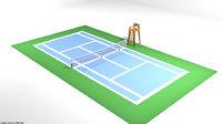3D model court tennis