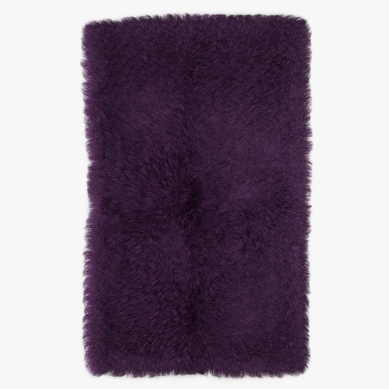 wool mongolian fur rug 3D model