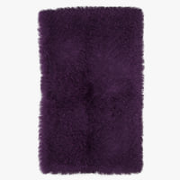 wool mongolian fur rug 3D model