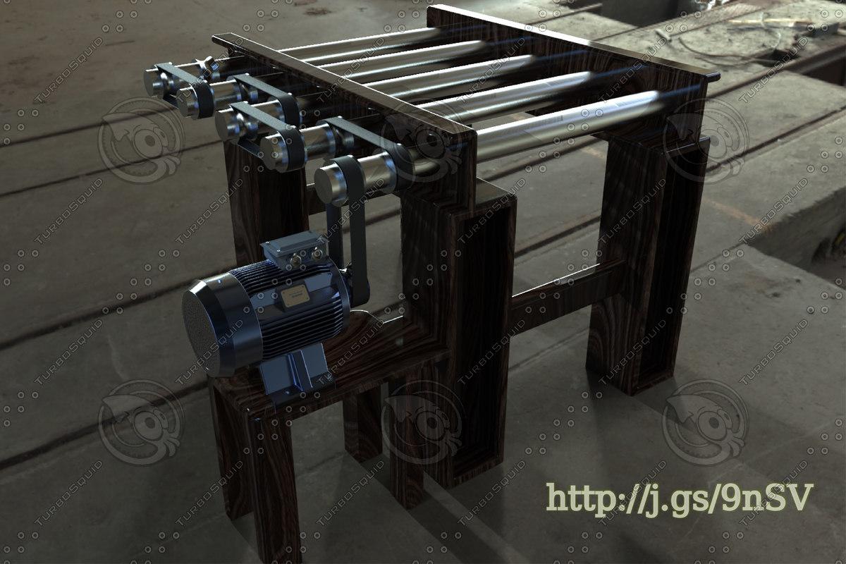 3D roller conveyor