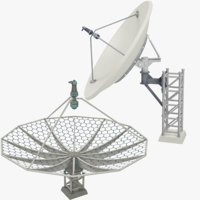 3D satellite dishes set v5 model