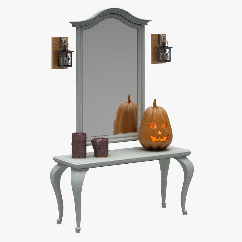 dresser set 3D model