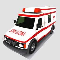 ambulance toon 3D model