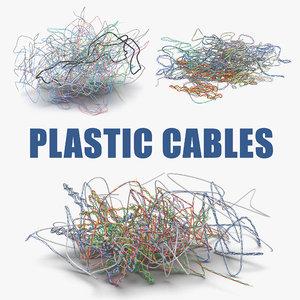 colorful plastic cables 3D model