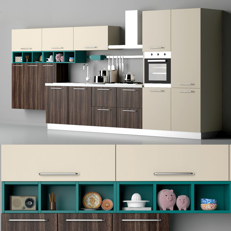 3d kitchen britt creo cucine model turbosquid 1177897 - Software cucine 3d ...