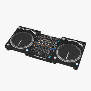 digital dj pioneer 3D model