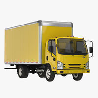 3D box truck generic simple