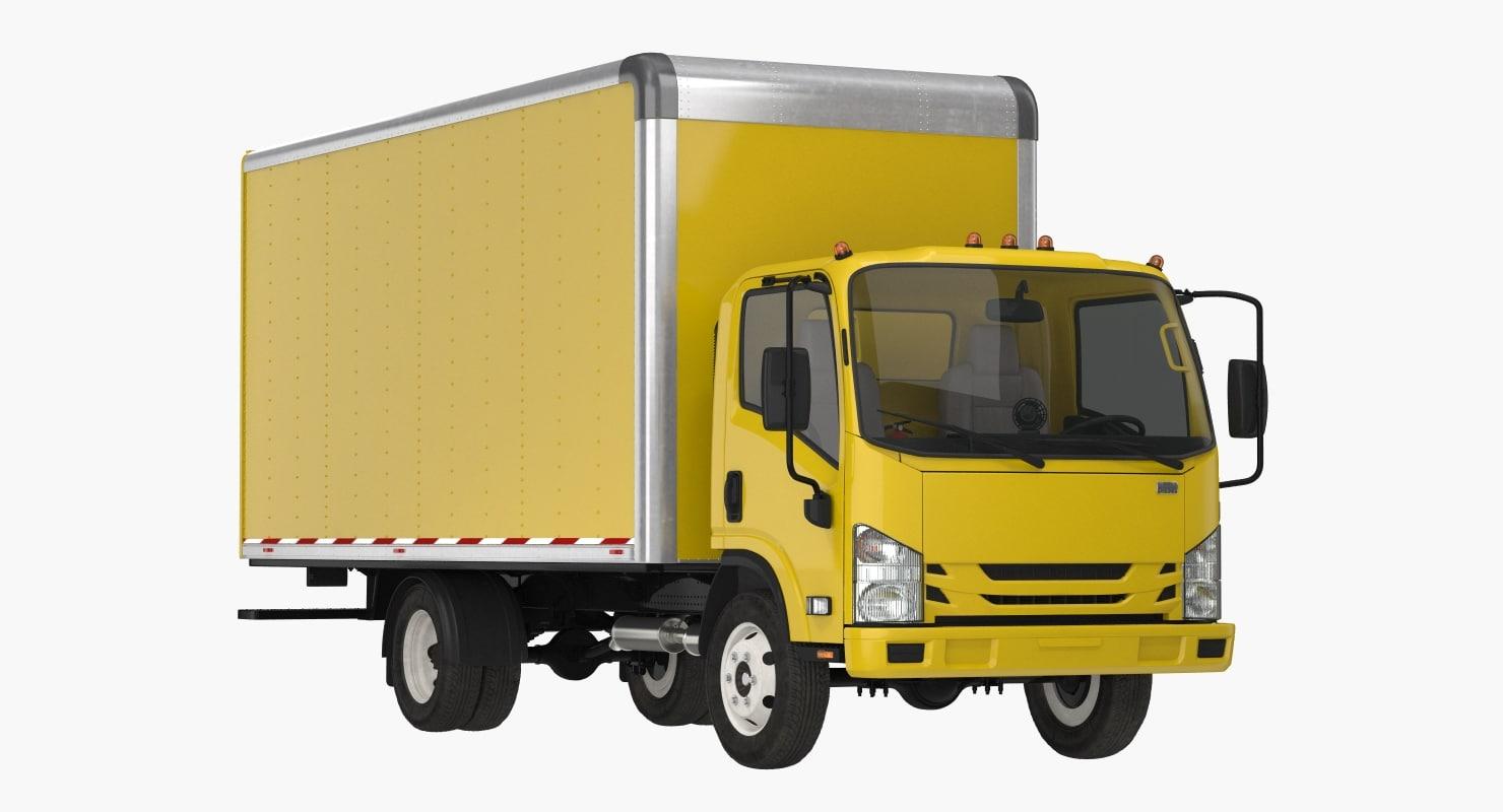 3D box truck generic simple