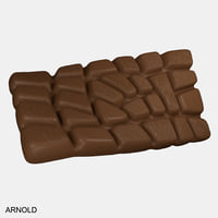 realistic chocolate bar model