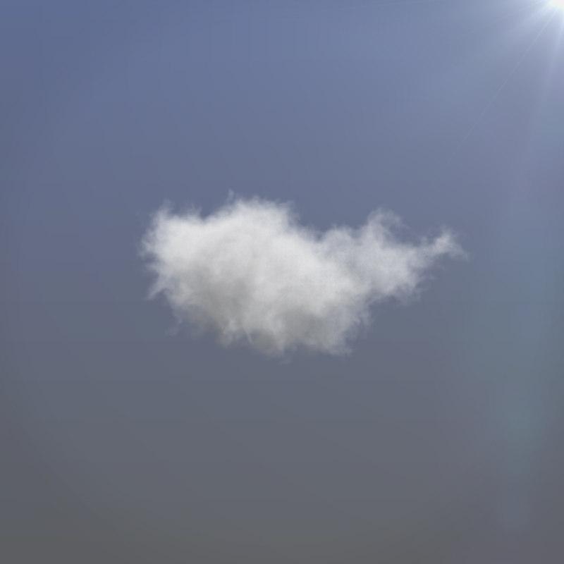realistic cloud vdb 3D model