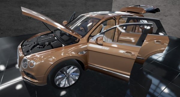 3D model ready bentley bentayga