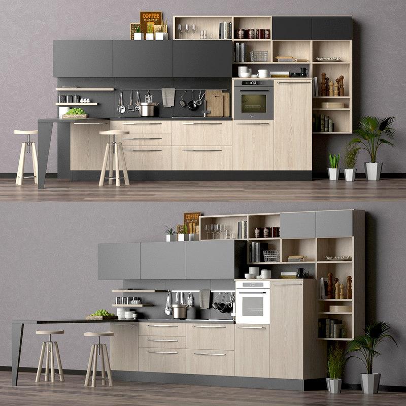 3d lube cucine model turbosquid 1177967 - Software cucine 3d ...