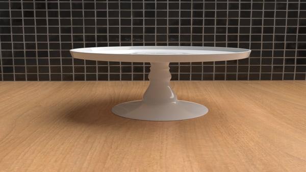 3D ceramic cake stand
