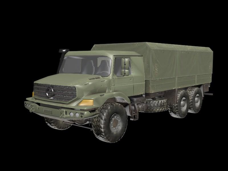 3D big armor military truck