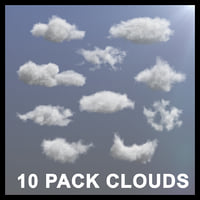 10 pack clouds vdb 3D