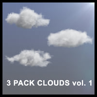 3D Clouds - 3 PACK - vol1