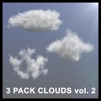 3D 3 pack clouds model