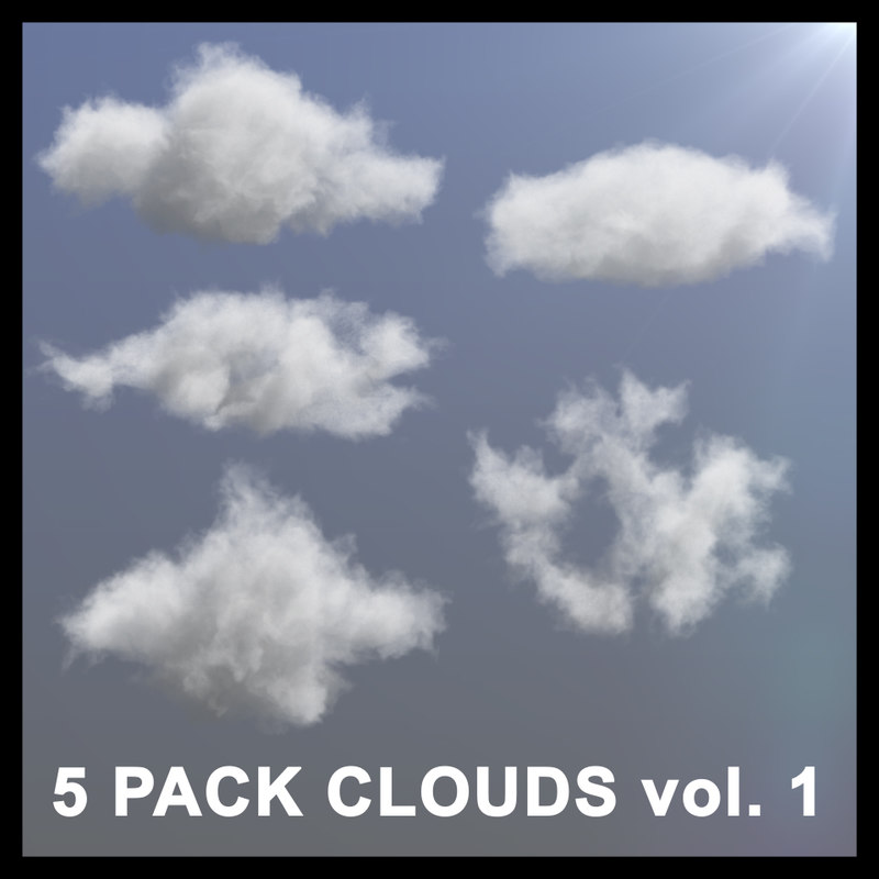 3D Clouds - 5 PACK v1 - VDB