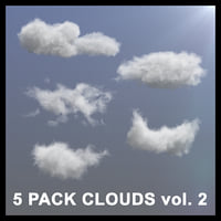 3D Clouds - 5 PACK v2 - VDB