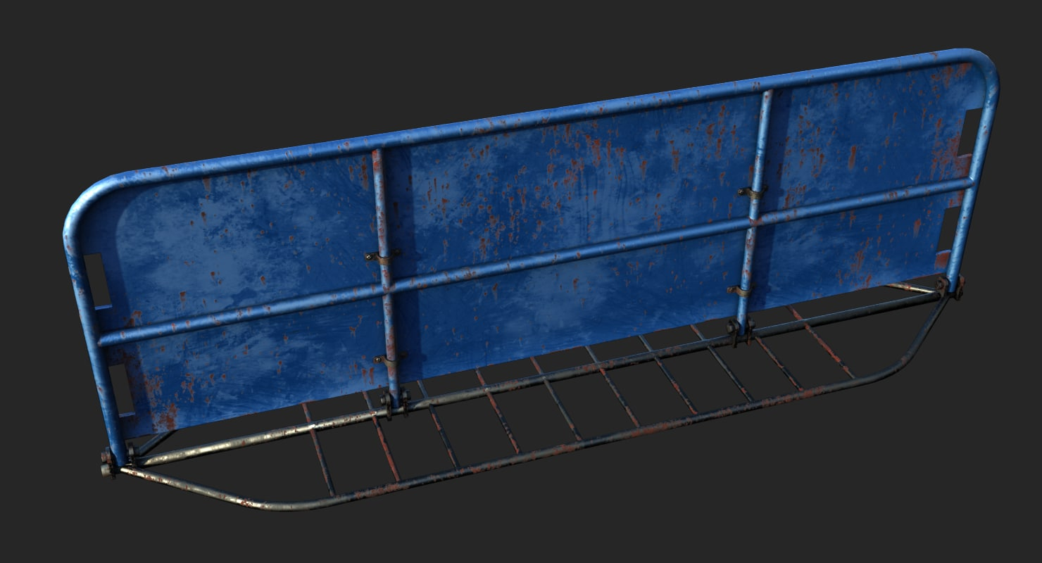 metal barricade 3D model