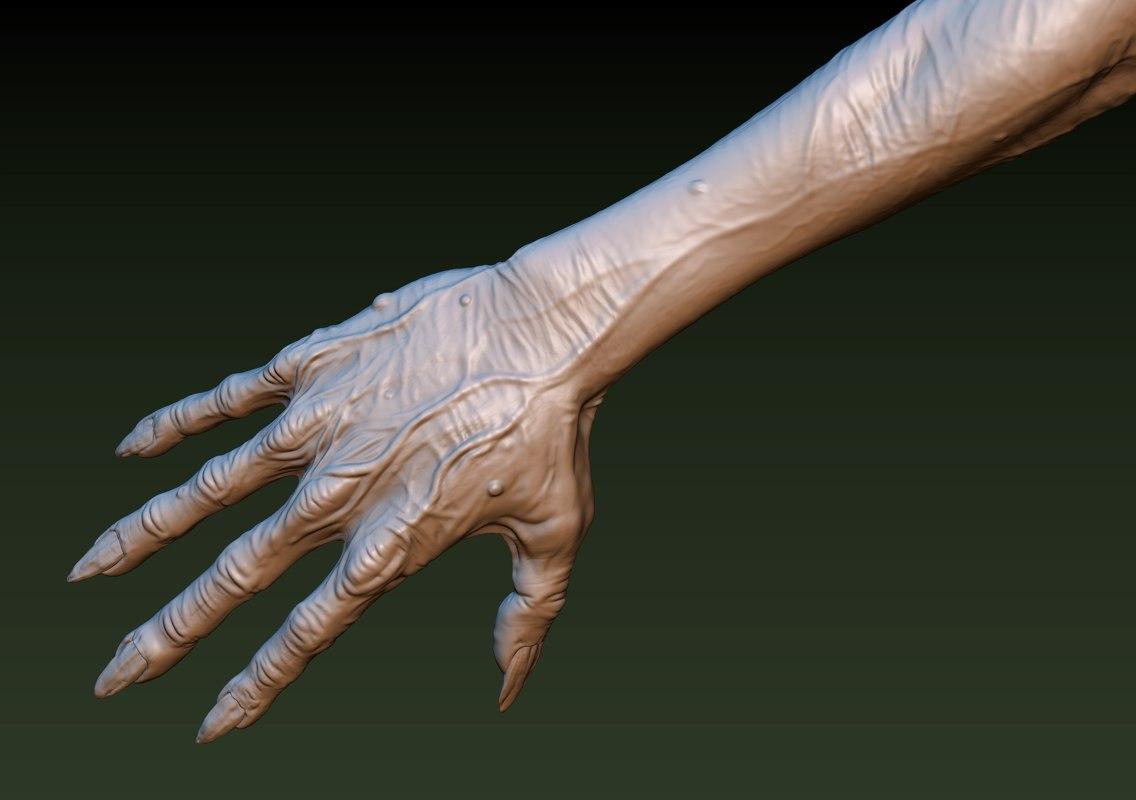 zombie hand model
