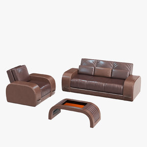 3D model sofa zandvoort tonino chair