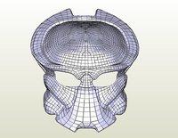 3D model female mask predator