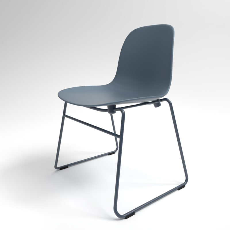 interior normann form stacking chair model