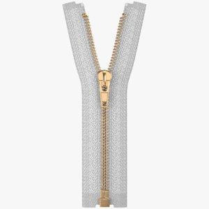 3D metal zipper model