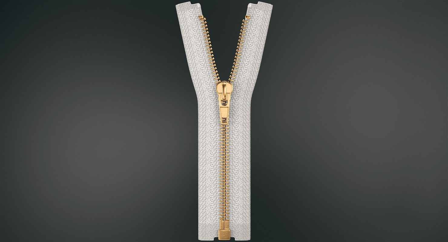 3D metal zipper model