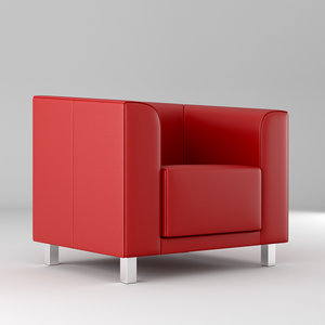 3D modern leather chair model