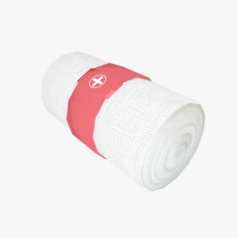 bandage red 3D model