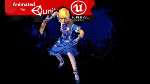 3D games little girl model