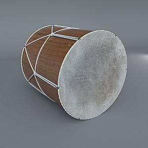 3D azerbaijan drum
