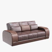sofa zandvoort leather 3D