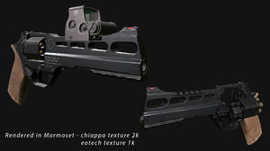 3D model revolver sight chiappa eotech