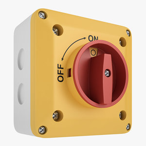 enclosed disconnect switch 3D