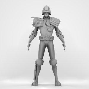 3D judge dredd