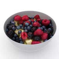 delicious fruit salad 3D model