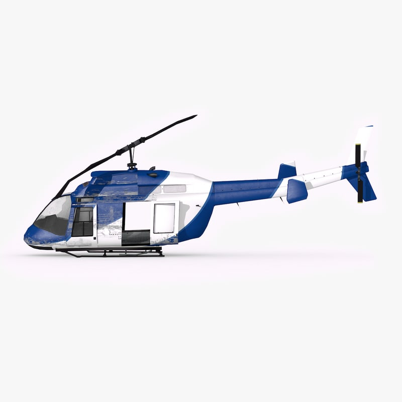 crushed helicopter 3D model