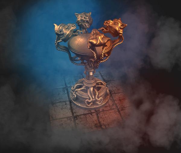 floor lamp tiger fantasy 3D model