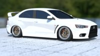 3D model lancer evolution x