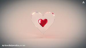 red heart 3D model