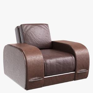 3D model armchair zandvoort